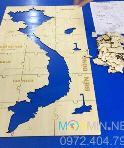 Bộ lắp ghép bản đồ việt nam bằng gỗ