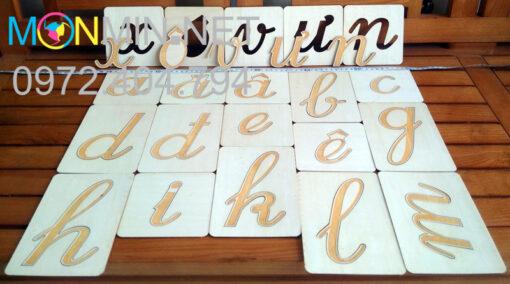 Các chữ nhám có thể tách rời